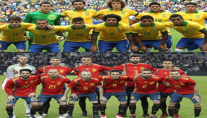 Brazil and Spain Now Favourites to Win the World Cup